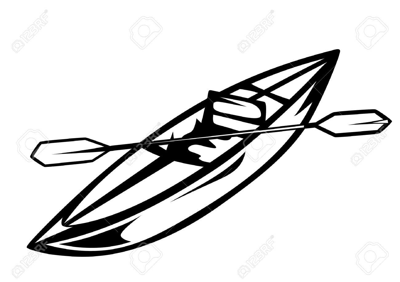 1300x918 Canoe Vector Illustration Royalty Free Cliparts, Vectors,