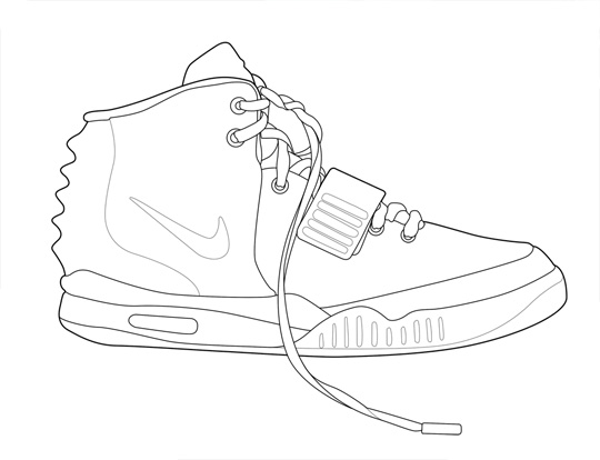 540x414 Draw Nike Air Yeezy 2 Model Aviation