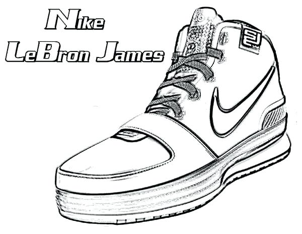 600x464 Lebron 13 Coloring Pages Lebron Shoes Coloring Pages