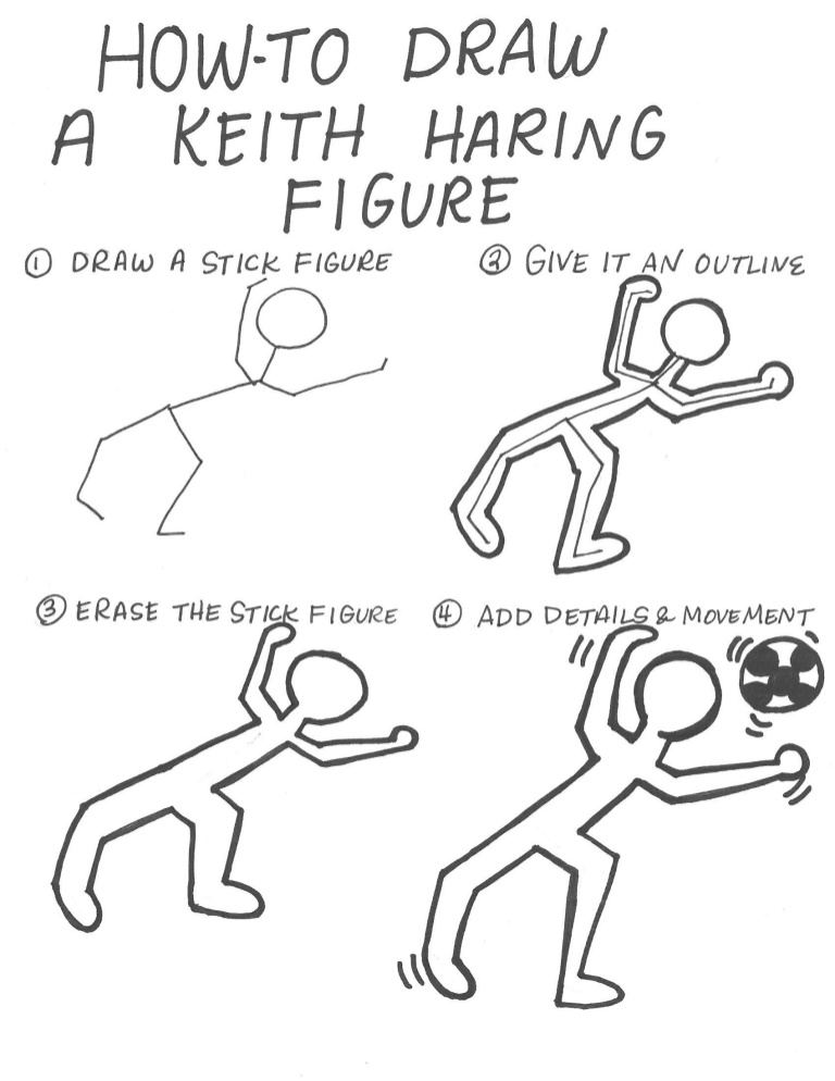 Keith haring drawing at getdrawings free for personal use 768x994 how to draw a keith haring figure malvernweather Image collections