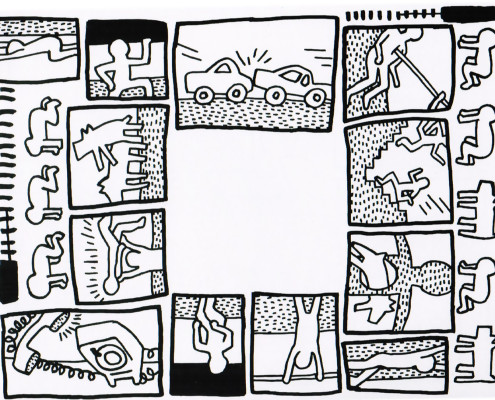 Keith haring drawing at getdrawings free for personal use 495x400 keith haring the blueprint drawings portfolio 1990 hamilton malvernweather Image collections