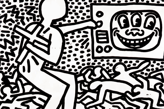560x374 Keith Haring The Political Line Opens In San Francisco