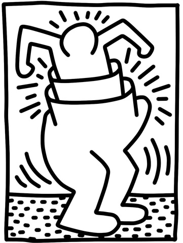 361x480 Pop Shop Figure By Keith Haring Coloring Page Art Famous