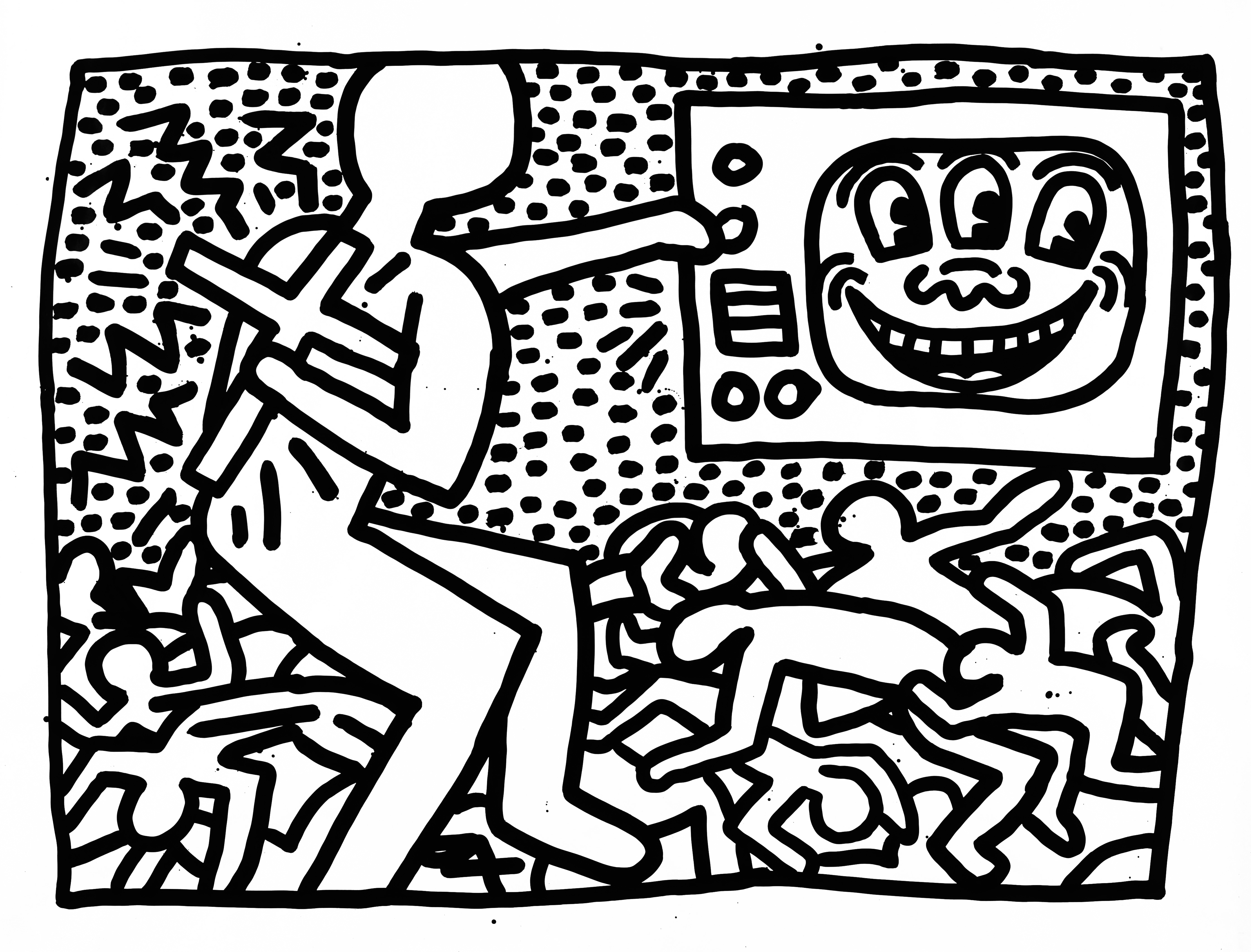 4485x3414 Portrait Of Keith Haring As A Young Man Brooklyn Museum Focuses