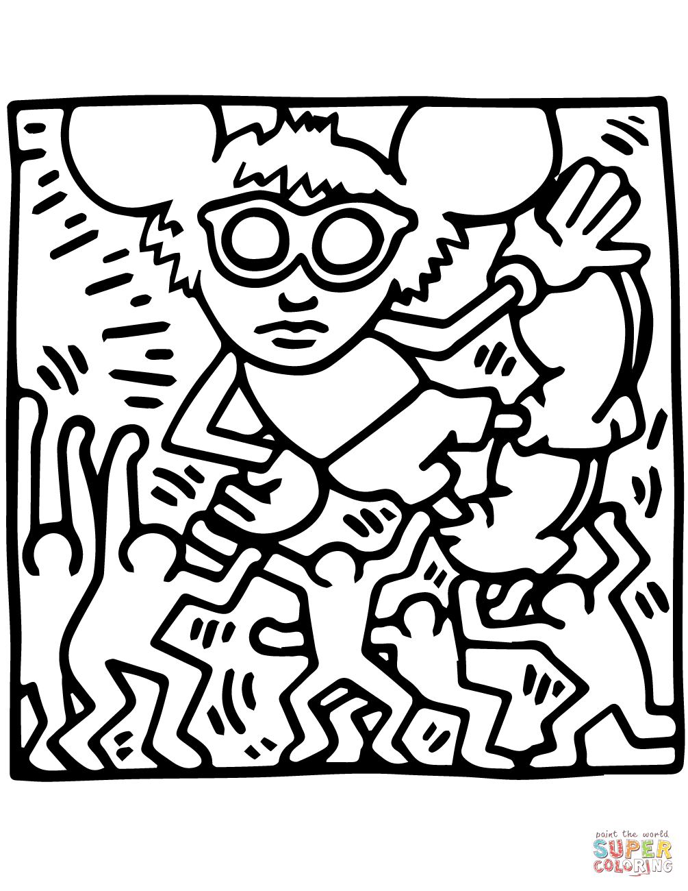 1005x1300 Andy Mouse By Keith Haring Coloring Page Free Printable Coloring