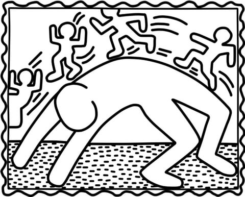 Coloriage Keith Haring.Keith Haring Drawing At Getdrawings Com Free For Personal Use