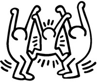 200x169 Coloring Pages Keith Haring Drawing Ideas For School