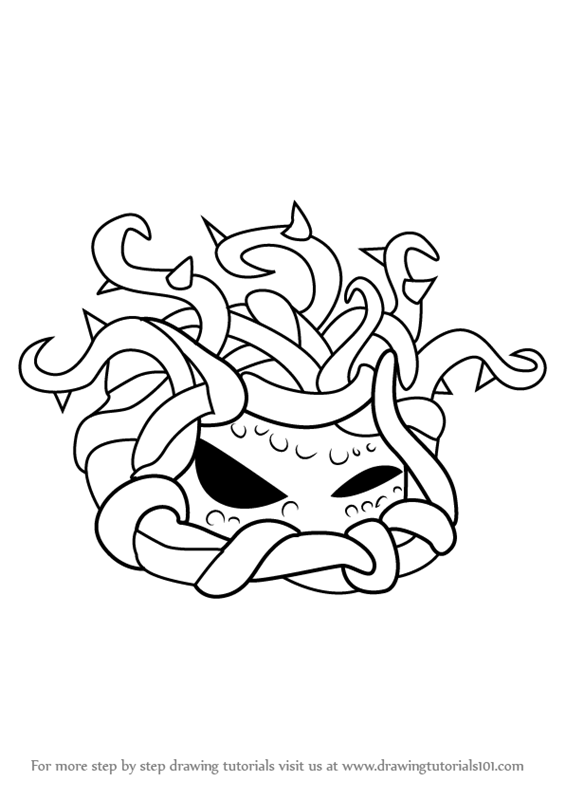 565x800 Learn How To Draw Tangle Kelp From Plants Vs. Zombies (Plants Vs