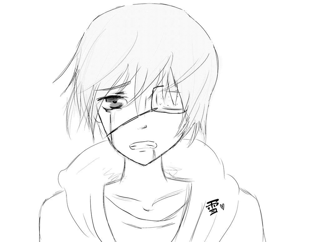 1024x774 Kaneki Ken Line Art By Moe Yuki