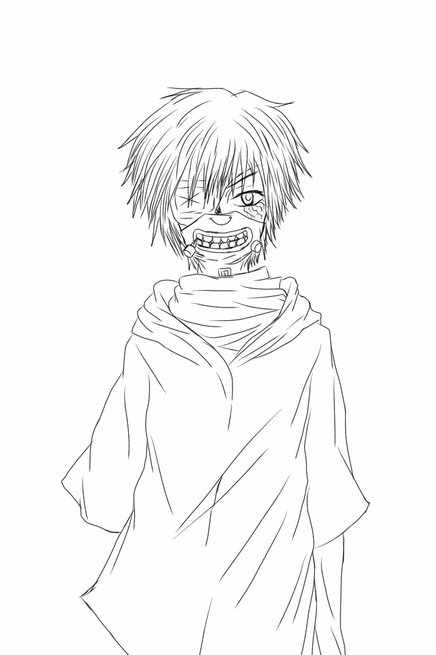 853x1280 Tokyo Ghoul Kaneki Ken Lineart By Yuzumisetotan2196