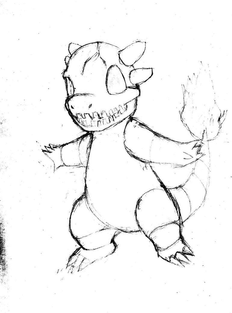771x1037 Delta Charmander 2 Sketch (Ken Sugimori Style) By Breaker335