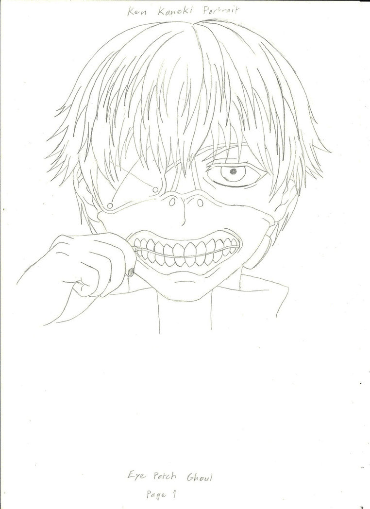 762x1048 Ken Kaneki (Pencil Sketch) By Arkrilik2000