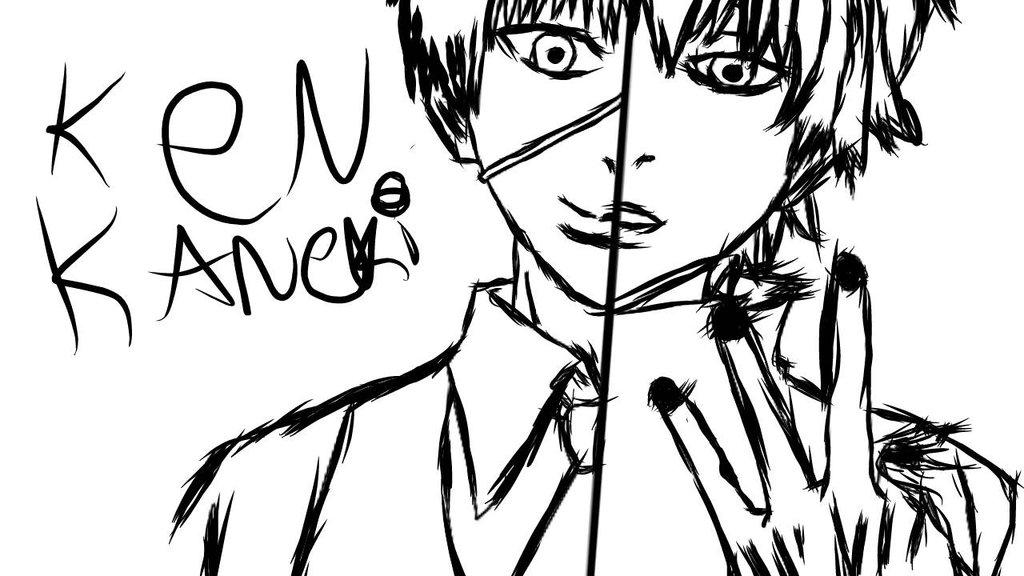 1024x576 Ken Kaneki Tokyo Ghoul Drawing By Kanekitouka112