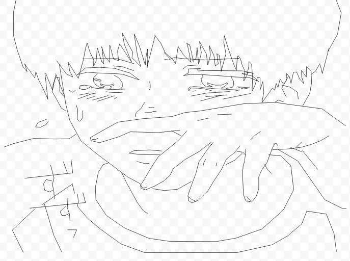 687x512 Ken Kaneki Tokyo Ghoul Lineart By Vividlyinsane
