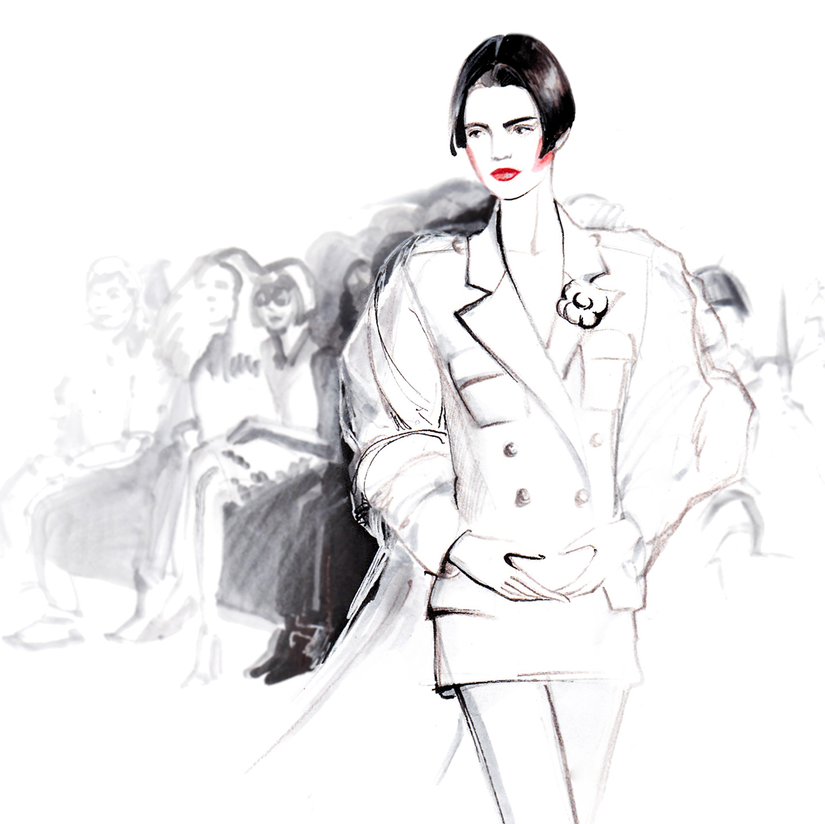 1200x1199 Kendall Jenner For Chanel On Behance Fashion Illustration