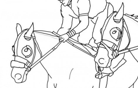 470x300 Horse Racing Animal Coloring Page Color Horses Competition