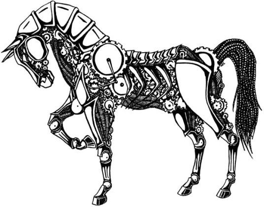 536x421 95 Best Horses Amp Ink Images On Equine Art, Horse