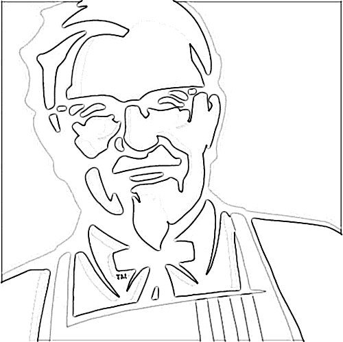 500x499 Kentucky Fried Chicken (Kfc) Logo Sketch