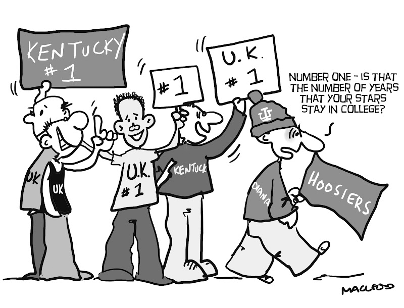 800x610 Macleod Cartoons One Is The Number For Kentucky Basketball