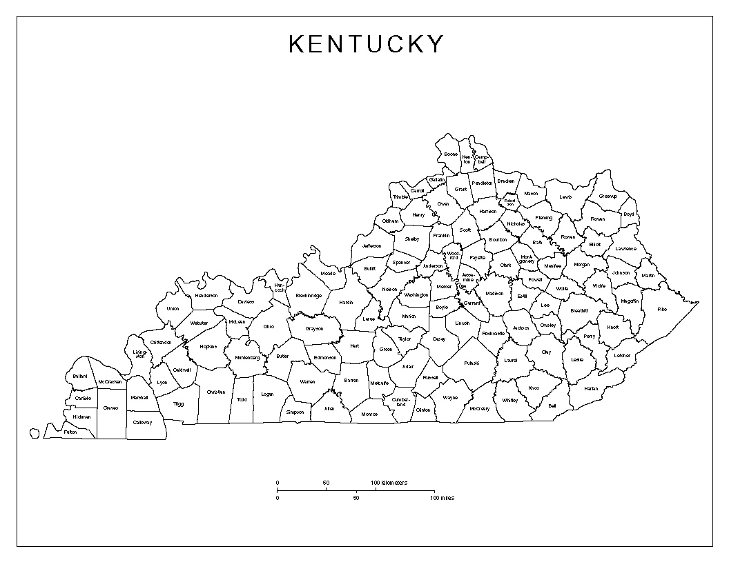 1056x815 Maps Of Kentucky