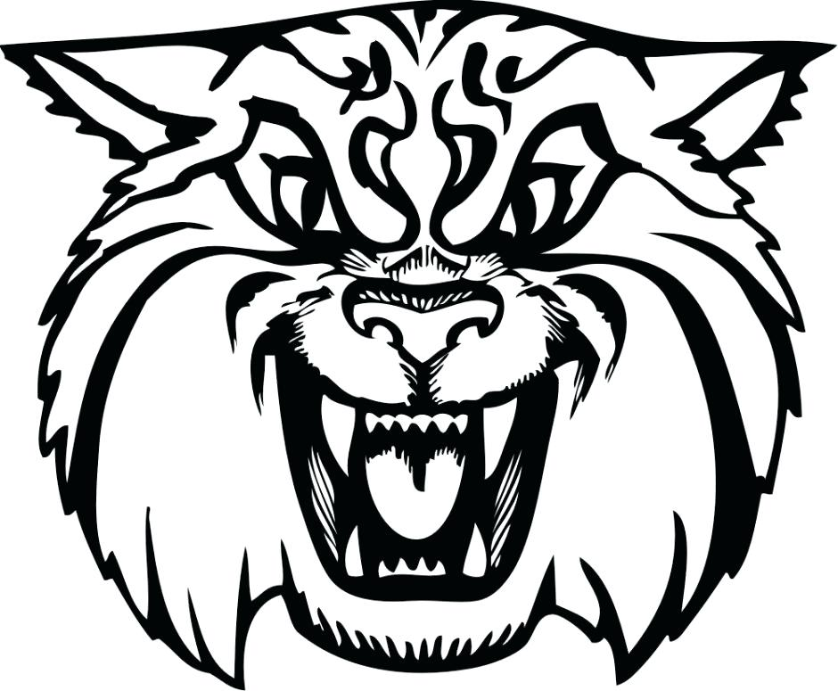 940x775 Wildcat Coloring Page Wild Cat Coloring Pages Kentucky Wildcats