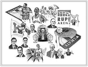 300x227 Kentucky Basketball Drawings Fine Art America