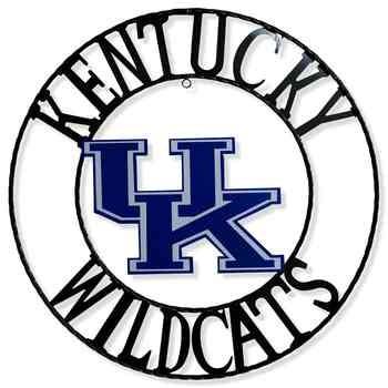 350x350 Kentucky Wildcats 18 Round Collegiate Sign