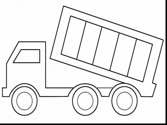 687x515 Coloring Pages Dump Truck Coloring Pages Powerful Kenworth Page