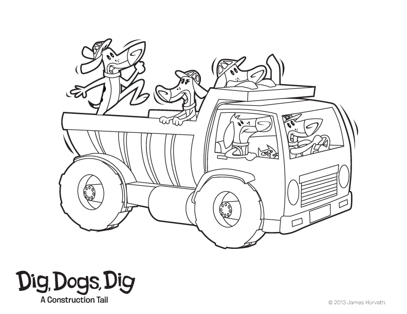 792x612 Dig, Dogs, Dig! Coloring Pages!