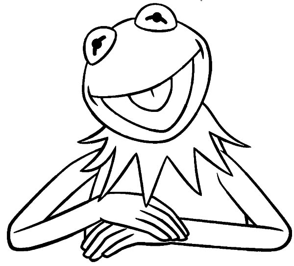 600x542 Kermit The Frog Coloring Pages To Print Kermit The Frog Coloring