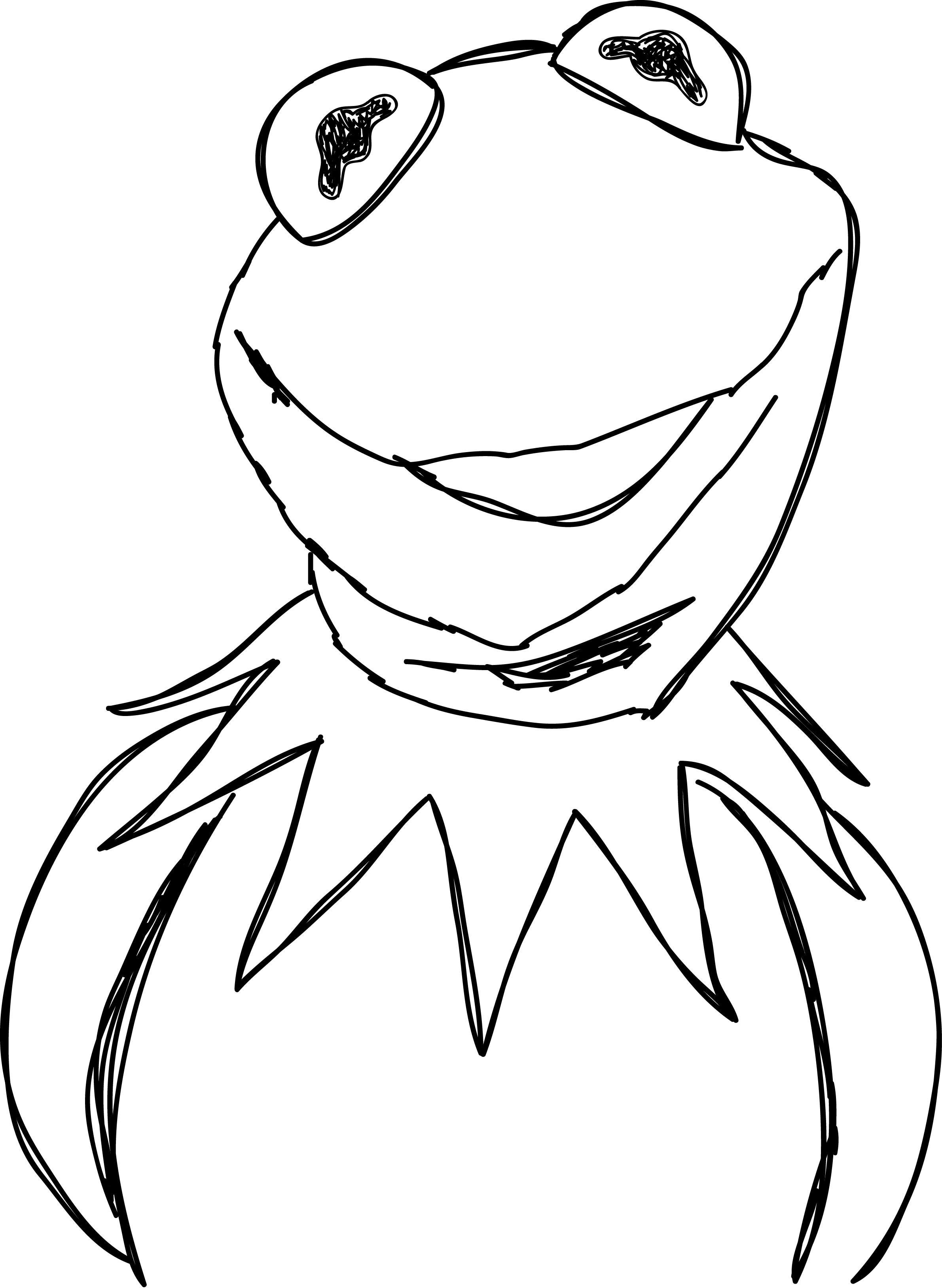 2381x3256 Kermit The Frog Drawing