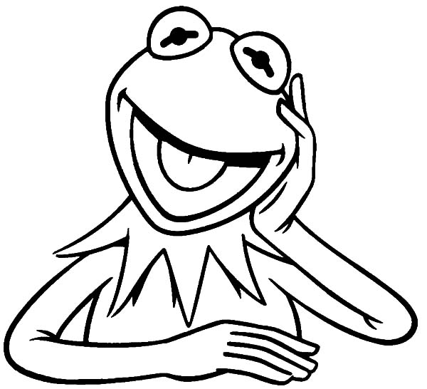 600x546 Kermit The Frog Laughing Coloring Pages Coloring Sky