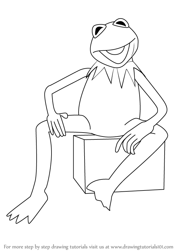 598x844 Learn How To Draw Kermit The Frog From Sesame Street (Sesame