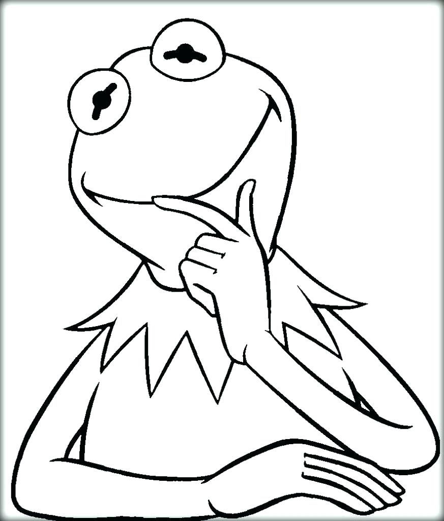 873x1024 Coloring Kermit The Frog Coloring Pages