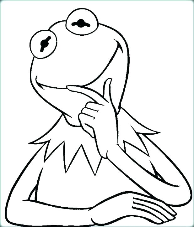 618x725 Kermit The Frog Coloring Pages Goodjelly.co