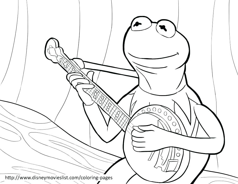 970x750 Good Kermit Coloring Page Image Pages Print The Frog