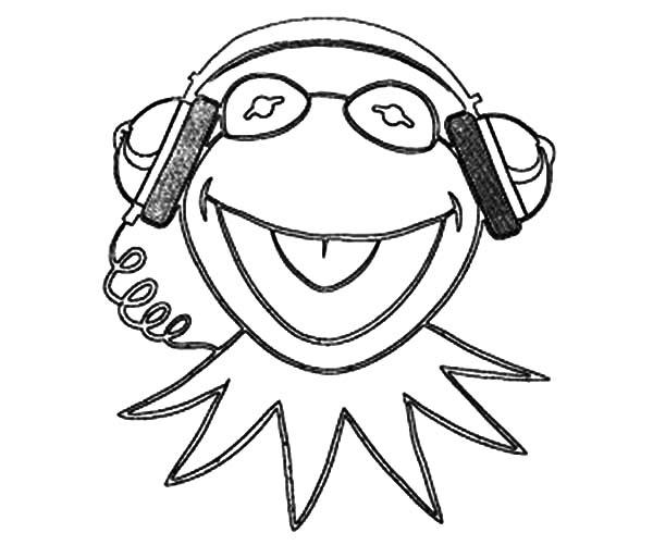 600x501 Kermit Coloring Page Free Download