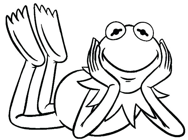600x449 Kermit Coloring Pages The Frog From The Show Coloring Pages Kermit