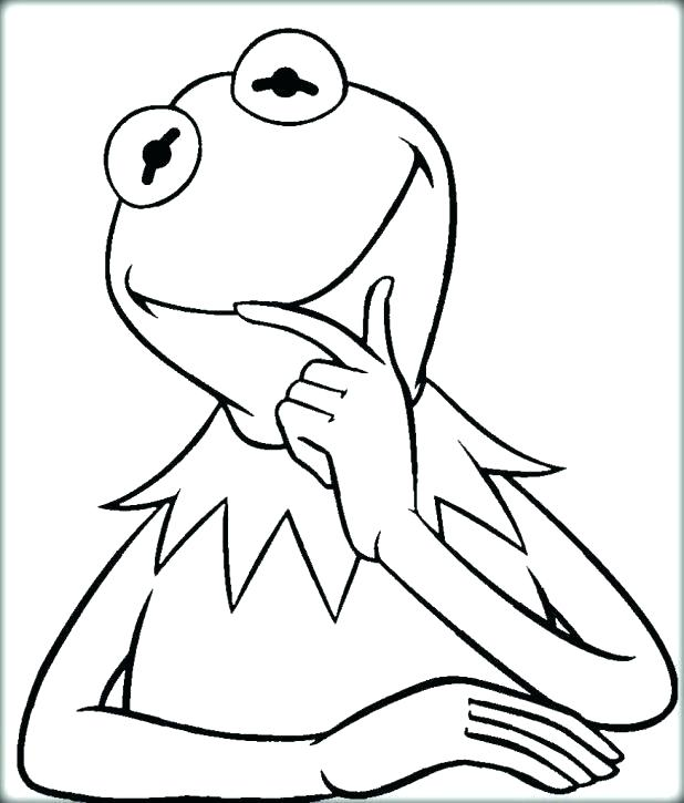 618x725 Classy Kermit The Frog Coloring Pages Crayola Photo Page First