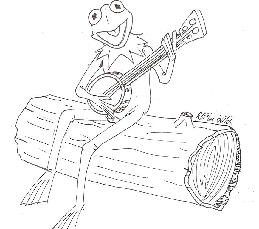 869x768 New Kermit The Frog Coloring Page Fee Picture Of Realistic