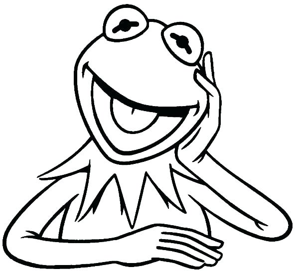 600x546 Kermit The Frog Coloring Pages Goodjelly.co