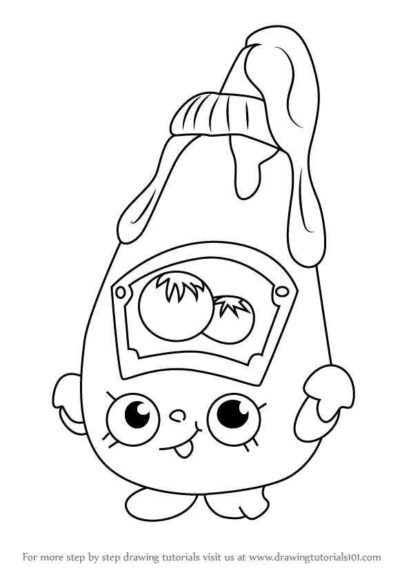 596x843 Learn How To Draw Tommy Ketchup From Shopkins (Shopkins) Step By