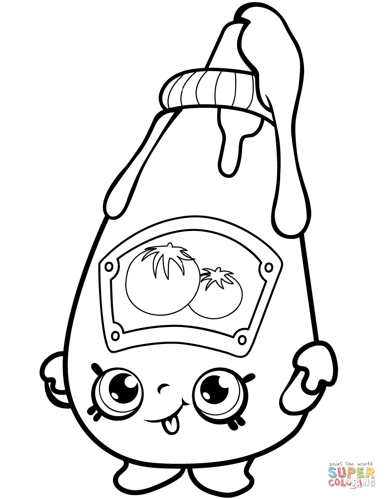 791x1024 Tommy Ketchup Shopkins Coloring Pages Collections