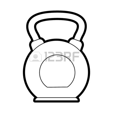 450x450 Weight Scale Icon Over White Background. Vector Illustration