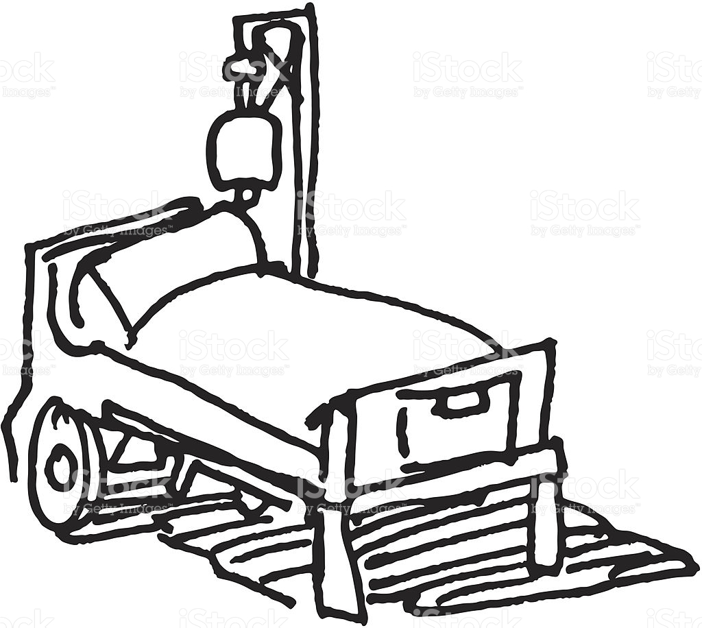 1024x916 Hospital Bed Drawing