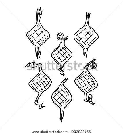 428x470 Stock Vector Ketupat Indonesian Traditional Food Usually For Aidil