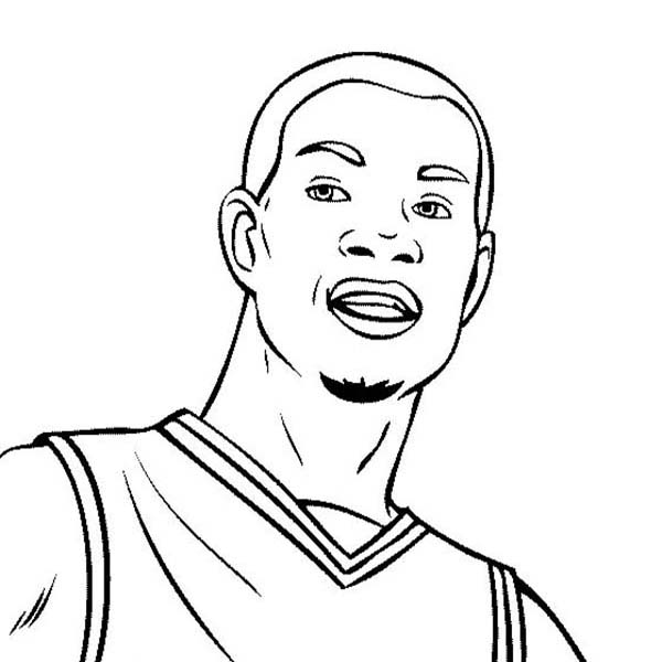 600x600 Kevin Durant Is Nba Player Coloring Page Color Luna