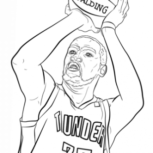 308x308 35 Kevin Durant Coloring Pages Stephen Curry Coloring Pages