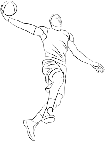 356x480 Basketball Player Coloring Page Free Printable Coloring Pages