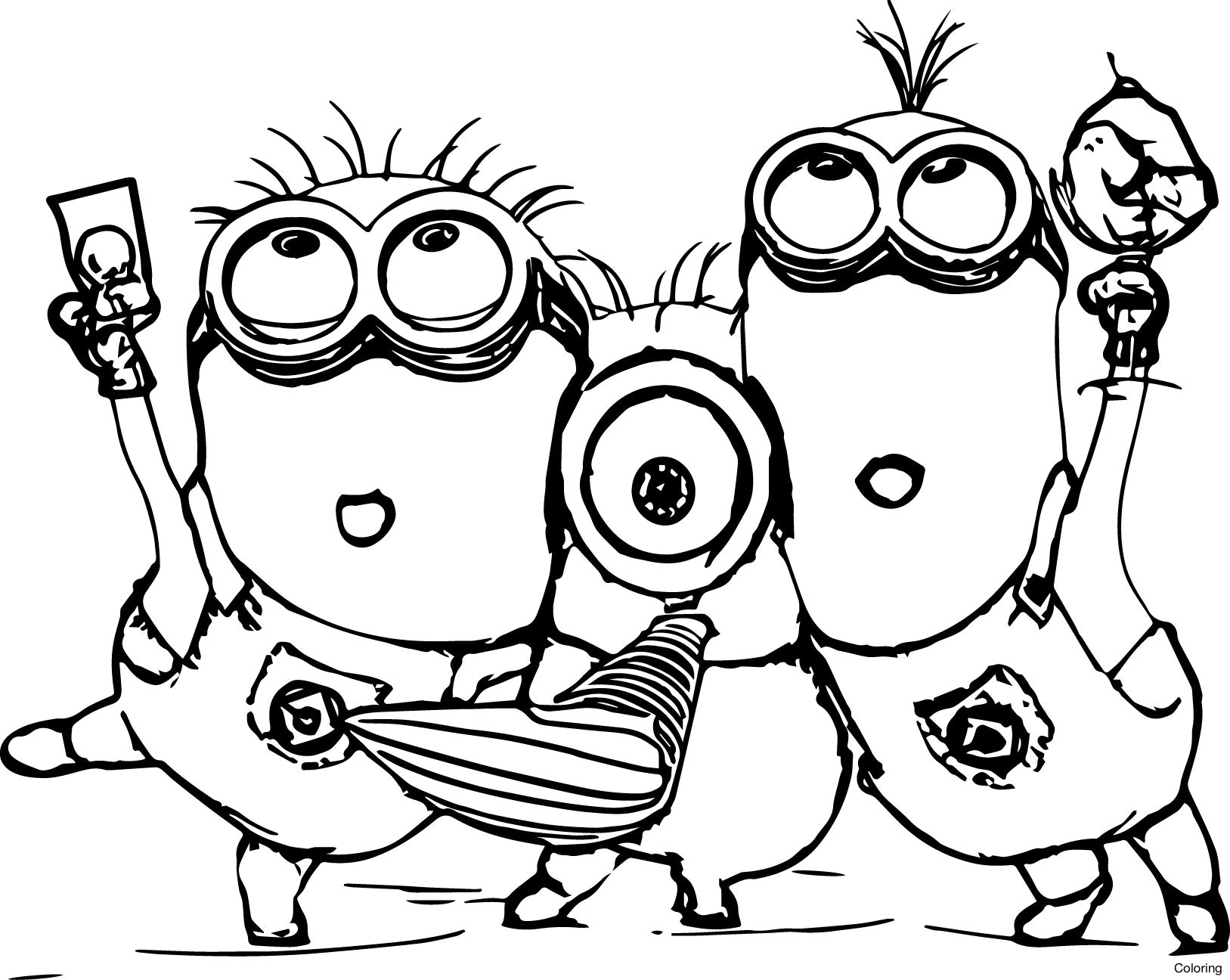 1627x1296 Kevin Bob Despicable Me 2 Minions Coloring Page Minion Color Pages